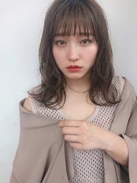 抜け感パーマ ミディアムレイヤー【K_15】