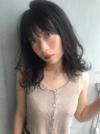 暗髪外ハネレイヤーセミディ【T26】
