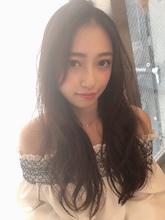 女子アナ風ラフセミディ【シナモンブランジュ】U-286|ALICe by afloatのヘアスタイル
