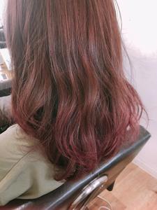 秋カラー ベリーピンク グラデーションカラー【yー505】|ALICe by afloatのヘアスタイル