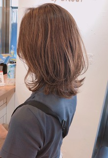 切りっぱなしに飽きたら♪くびれロブ 【yー509】|ALICe by afloatのヘアスタイル