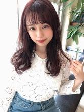 女子アナ風ラフセミディ【シナモンブランジュ】U-295|ALICe by afloatのヘアスタイル