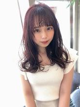女子アナ風ラフセミディ【シナモンブランジュ】U-296|ALICe by afloatのヘアスタイル