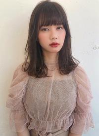 透明感シアーベージュ セミディ【K_33】