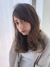 女子アナ風セミディ【透明感ブランジュ】U-299 ALICe by afloat 上田 ヒロツグのヘアスタイル