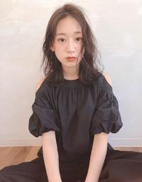 暗髪 アッシュグレー 大人ロブ【yー522】