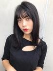 暗髪シースルーバング【T49】
