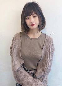 ワンカールパーマ シースルーボブ【K_43】