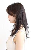 シースルーバング×濡れ感が叶える上質な色っぽヘア