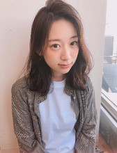 かきあげロブ  ニュアンスパーマ【yー533】 ALICe by afloat 松盛 友美子のヘアスタイル