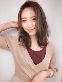 カーキベージュ 秋色 ツヤパーマ【yー535】