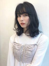 暗髪ミディアム ワンカールレイヤー【K_48】
