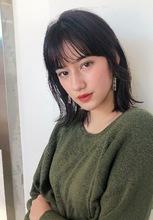 切りっぱなしロブ おくれ毛カット【K_49】 ALICe by afloat 野坂 京のヘアスタイル