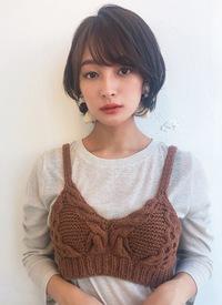 小顔ひし形ショートボブ【K_50】
