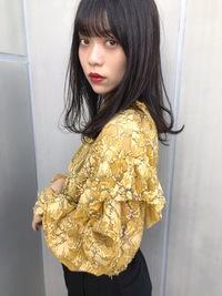 外ハネワンカール暗髪カラー【T58】