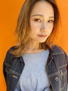 かきあげ外ハネミックスパーマ【T61】|ALICe by afloatのヘアスタイル