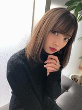 女子アナ風清楚セミディ【シナモンブランジュ】U-310|ALICe by afloatのヘアスタイル