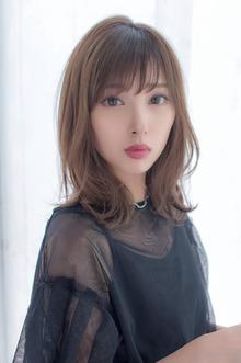女子アナ風清楚セミディ【シナモンブランジュ】U-311|ALICe by afloatのヘアスタイル