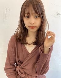 内巻きパーマ ツヤ髪イルミナカラーM338