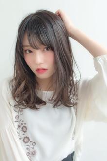 女子アナ風清楚セミディ【シナモンブランジュ】U-314|ALICe by afloatのヘアスタイル