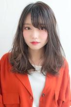 女子アナ風清楚セミディ【シナモンブランジュ】U-315|ALICe by afloatのヘアスタイル