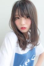 女子アナ風清楚セミディ【シナモンブランジュ】U-316|ALICe by afloatのヘアスタイル