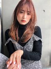 レイヤー 毛先パーマ ひし形シルエット【y−561】|ALICe by afloat 松盛 友美子のヘアスタイル