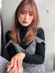 レイヤー 毛先パーマ ひし形シルエット【y−561】|ALICe by afloatのヘアスタイル