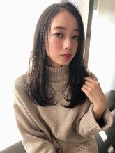 女子アナ風清楚セミディ【シナモンブランジュ】U-322|ALICe by afloatのヘアスタイル