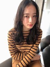 女子アナ風清楚セミディ【シナモンブランジュ】U-324|ALICe by afloatのヘアスタイル