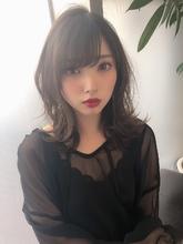 女子アナ風清楚セミディ【シナモンブランジュ】U-325|ALICe by afloatのヘアスタイル