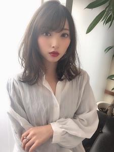 女子アナ風清楚セミディ【シナモンブランジュ】U-326|ALICe by afloatのヘアスタイル
