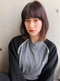 ひし形ロブ  シースルーバング 【yー564】