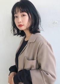 ニュアンスボブパーマ シースルーバング【K_75】