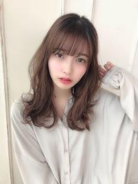 女子アナ風清楚セミディ【シナモンブランジュ】U-328
