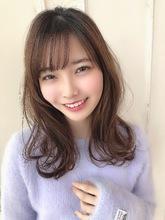 女子アナ風清楚セミディ【シナモンブランジュ】U-332|ALICe by afloatのヘアスタイル