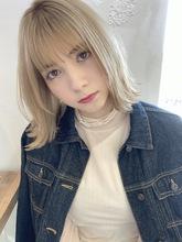 切りっぱなし外ハネ【T85】|ALICe by afloatのヘアスタイル