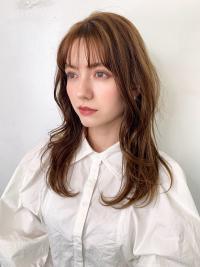 韓国風小顔ウエーブヘア