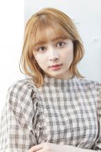 外ハネくびれボブ+ワイドバングで 甘め女子をゲット!|ALICe by afloatのヘアスタイル