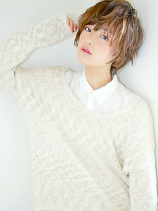 ナチュラルコットンショート allys hair aoyamaのヘアスタイル