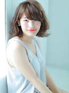 前髪あり☆ヘルシーエアリーボブ! allys hair aoyamaのヘアスタイル