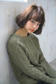 大人かわいいフェザーボブスタイル|allys hair aoyamaのヘアスタイル