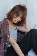 大人フェザーボブ allys hair aoyama 草場 早織のヘアスタイル