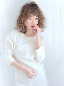 シースルーバング&くびれミディ☆セミウェット タンバルモリ☆|allys hair aoyamaのヘアスタイル