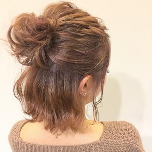 カジュアルアレンジ★ピンクベージュ★|allys hair shinsaibashi OPAのヘアスタイル