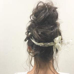 おリボン×おだんごアレンジ★|allys hair shinsaibashi OPAのヘアスタイル
