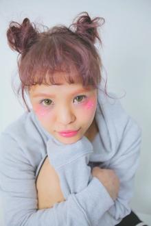 ルーズに簡単ツインテールお団子ヘアー|allys hair shinsaibashi OPAのヘアスタイル