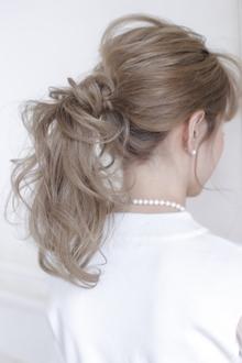 ルーズローポニー|allys hair shinsaibashi OPAのヘアスタイル