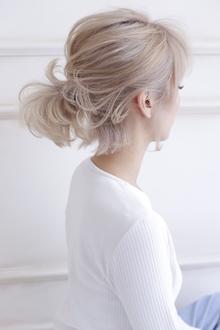 ボブ×簡単ヘアアレンジ allys hair shinsaibashi OPAのヘアスタイル
