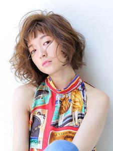 ★女性を引き出すオン眉バングにグレージュカラー★ allys hair shinsaibashi OPAのヘアスタイル